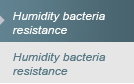 Humidity bacteria resistance